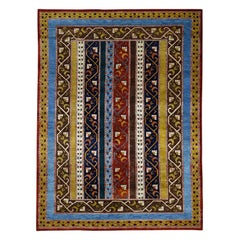 Hand Knotted 100 Percent Wool Shawl Design Oriental Rug