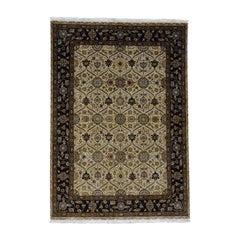 Hand Knotted 300 Kpsi Hereke Design Wool and Silk Oriental Rug