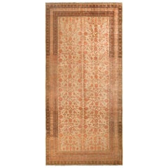 Hand-Knotted Antique Khotan Rug in Green and Red Pomegranate Pattern