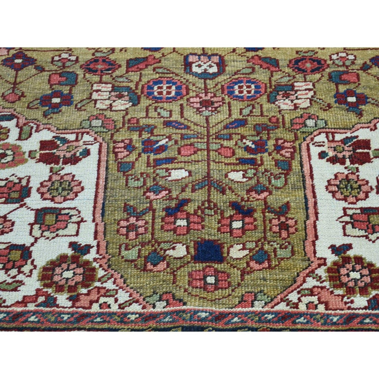 Other Hand Knotted Antique Persian Heriz Mint Condition Oriental Rug For Sale
