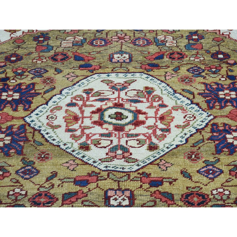 Hand-Knotted Hand Knotted Antique Persian Heriz Mint Condition Oriental Rug For Sale