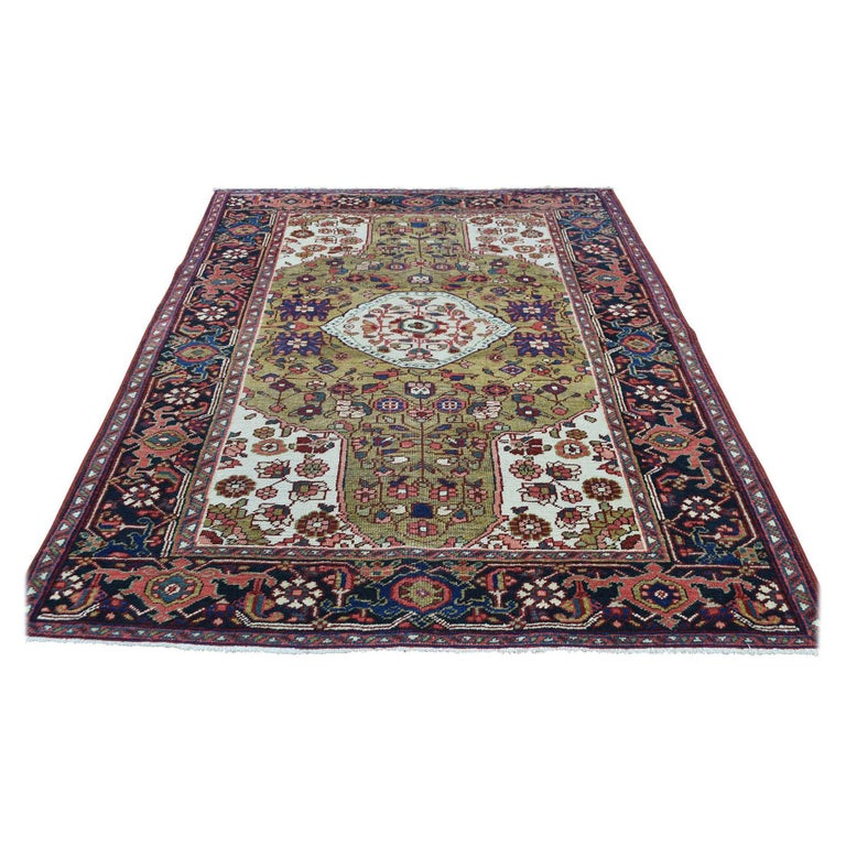 Hand Knotted Antique Persian Heriz Mint Condition Oriental Rug For Sale