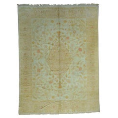 Hand-Knotted Antique Turkish Oushak Soft Colors Oriental Rug