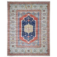 Hand Knotted Antiqued Bakshaish Re-Creation Pure Wool Oriental Rug