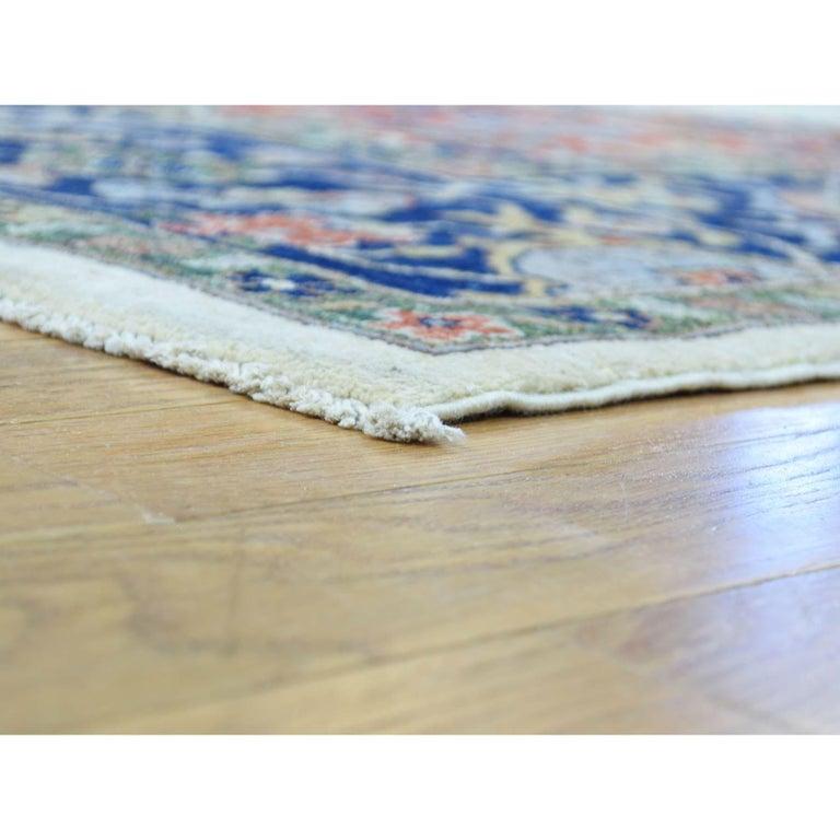 Afghan Hand Knotted Antiqued Bijar Pure Wool Oriental Rug For Sale
