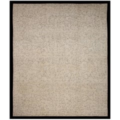 "Hand Knotted Artistic Rug ""Surrealism"" Design N.12, 100% Natural Silk"