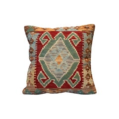 Hand Knotted Bench Cushion Cover, Handmade Carpet Kilim Rug Decorative Pillow