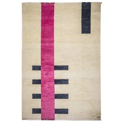 Behind Wool Rug with Cream Pink & Black by Cecilia Setterdahl for Carpets CC