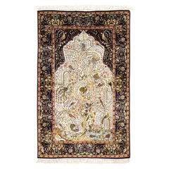 Hand Knotted Egyptian Silk Tree of Life 400 Kpsi Oriental Rug