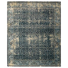 Rug & Kilim's Hand Knotted Herati-Style Rug Blue Classic Pattern