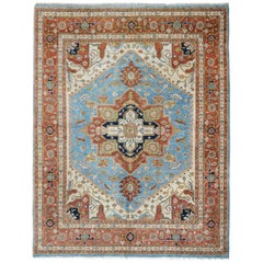 Hand Knotted Heriz Rug