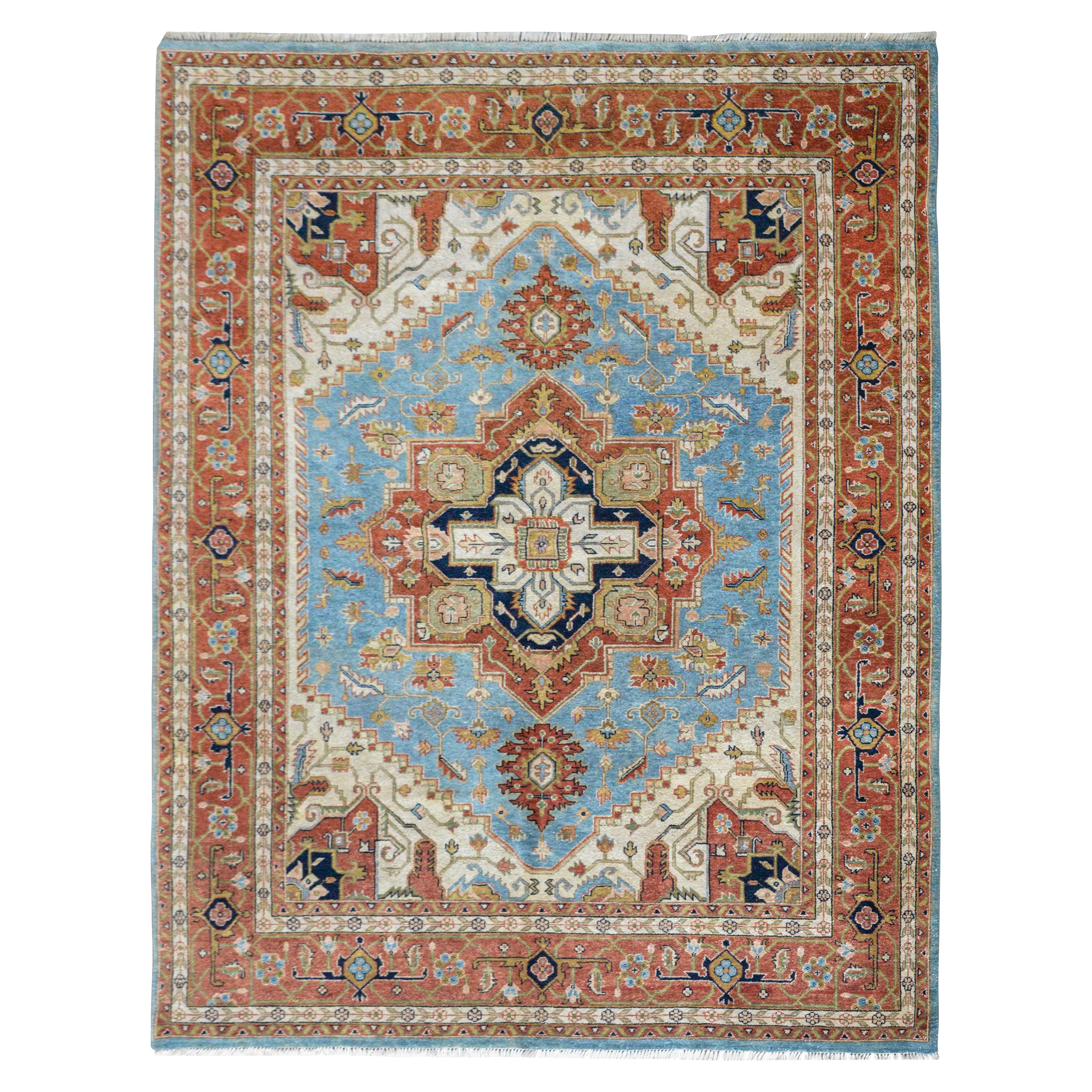 Hand Knotted Heriz-Style Rug
