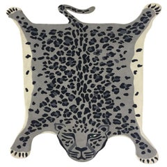 Hand Knotted Leopard New Zealand Wool Rug by Cecilia Setterdahl for Carpets CC