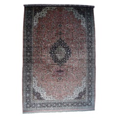 Hand Knotted Mansion Size Original Silk Qum Oriental Carpet
