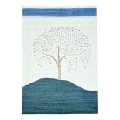 Hand Knotted Modern Folk Art Gabbeh Persian Wool Oriental Rug