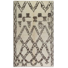 5 x 8 Ft Moroccan Beni Qurain Berber Rug, 100% Wool. Custom Options Available