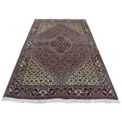"""Hand-Knotted Persian Bijar 300 Kpsi 100 Percent Wool Oriental Rug, 4'6"""" x 7'"""