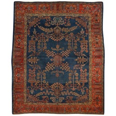 Hand Knotted, New Zealand Wool, Persian Antique Sultanabad Rug