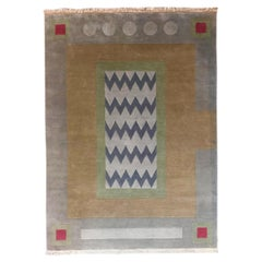 Hand Knotted New Zealand Wool Rug Neutral by Cecilia Setterdahl for Carpets CC