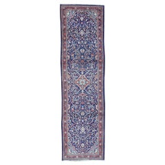 Hand Knotted Persian Mahal Wide Runner Oriental Rug