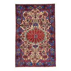 Hand Knotted Persian Nahavand Full Pile Pure Wool Oriental Rug