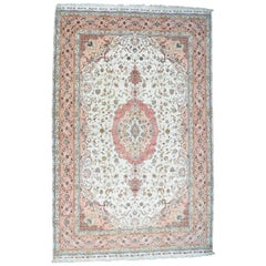 Hand Knotted Persian Tabriz 400 Kpsi Mansion Size Oriental Rug