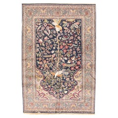 Hand Knotted Persian Tabriz Wool and Silk