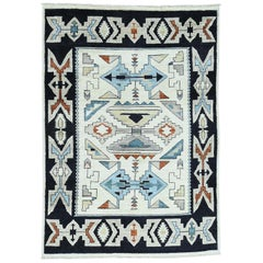 Hand Knotted Peshawar with Pile Navajo Design Oriental Rug