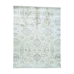 Hand Knotted Pure Silk Agra Design Oriental Rug