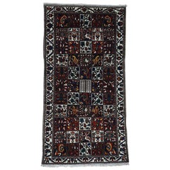 Hand Knotted Pure Wool Bakhtiari Garden Design Wide Runner Rug