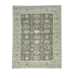 Hand Knotted Pure Wool Karajeh Design Oriental Rug