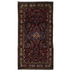 Hand Knotted Pure Wool Persian Nahavanad Wide Runner Rug