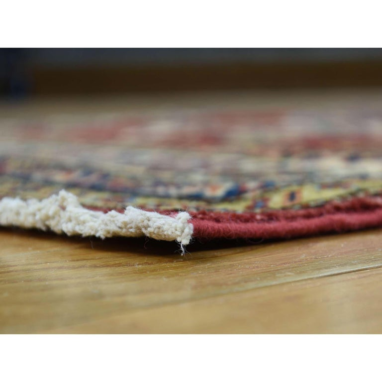 Hand-Knotted Hand Knotted Pure Wool Super Kazak Oriental Wide Runner Rug For Sale