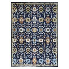 Hand Knotted Pure Wool Tabriz Design Peshawar Oriental Rug