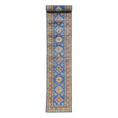 Hand Knotted Pure Wool XL Runner Super Kazak Oriental Rug