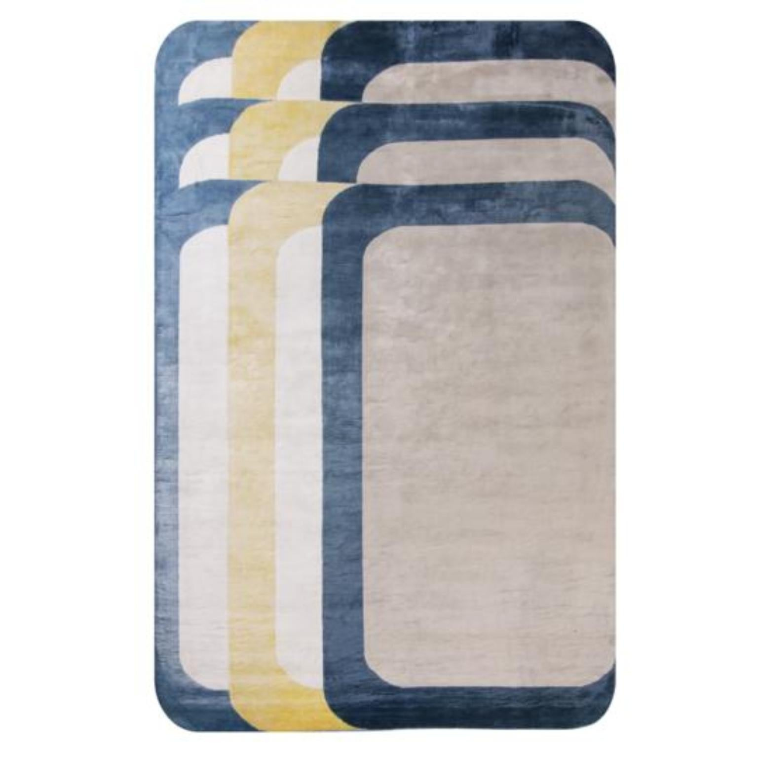 Hand Knotted Rectangle Rug by Saumil Suchak