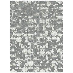 21st Century Carpet Rug Brooklyn Himalayan Wool and Silk Gray, White