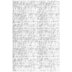 21st Century Carpet Rug Denim in Himalayan Wool and Silk Gray, White