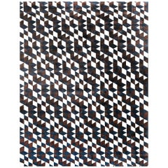 21st Century Carpet Rug Dexter in Himalayan Wool and Silk Brown, Blue, White