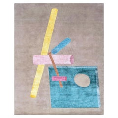 21st Century Carpet Rug Elements by Fabien Cappello in Himalayan Wool and Silk