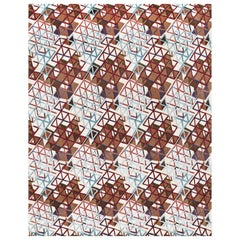 Hand Knotted Rug Futura Ver, A in Himalayan Wool and Silk Multi-Color