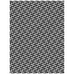 21st Century Carpet Rug Illusion in Himalayan Wool and Silk Black, Gray, White