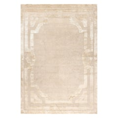 21st Century Carpet Rug Lord in Himalayan Wool and Silk Beige