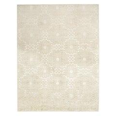 21st Century Carpet Rug Marrakesh in Himalayan Wool and Silk White, Ivory