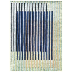 Hand Knotted Rug Reflex Ver. a in Himalayan Wool and Silk Multi-Color