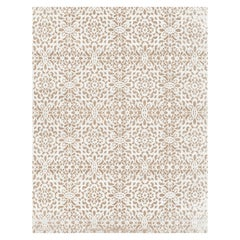 21st Century Carpet Rug Romance in Himalayan Wool and Silk Beige, White