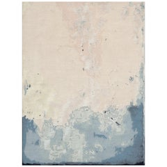21st Century Carpet Rug Sahara in Himalayan Wool and Silk Beige, Blue, White