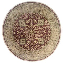 Hand Knotted Semi Floral Indian Jaipur Rug