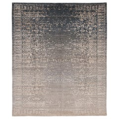 Hand Knotted Silk and Wool Erased Heritage Collection Rug by Jan Kath
