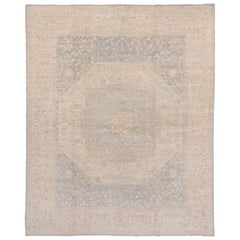 Hand Knotted Sivas Style Afghan Carpet, Soft Palette